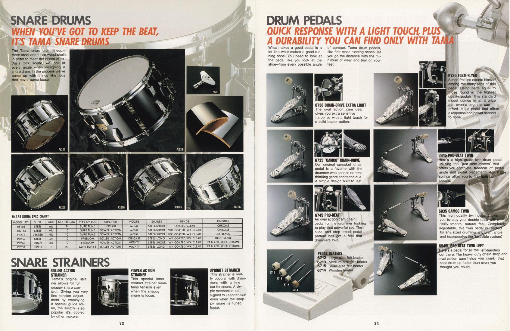 Catalogue 1988 Drum Pedals Drums Snare Drum