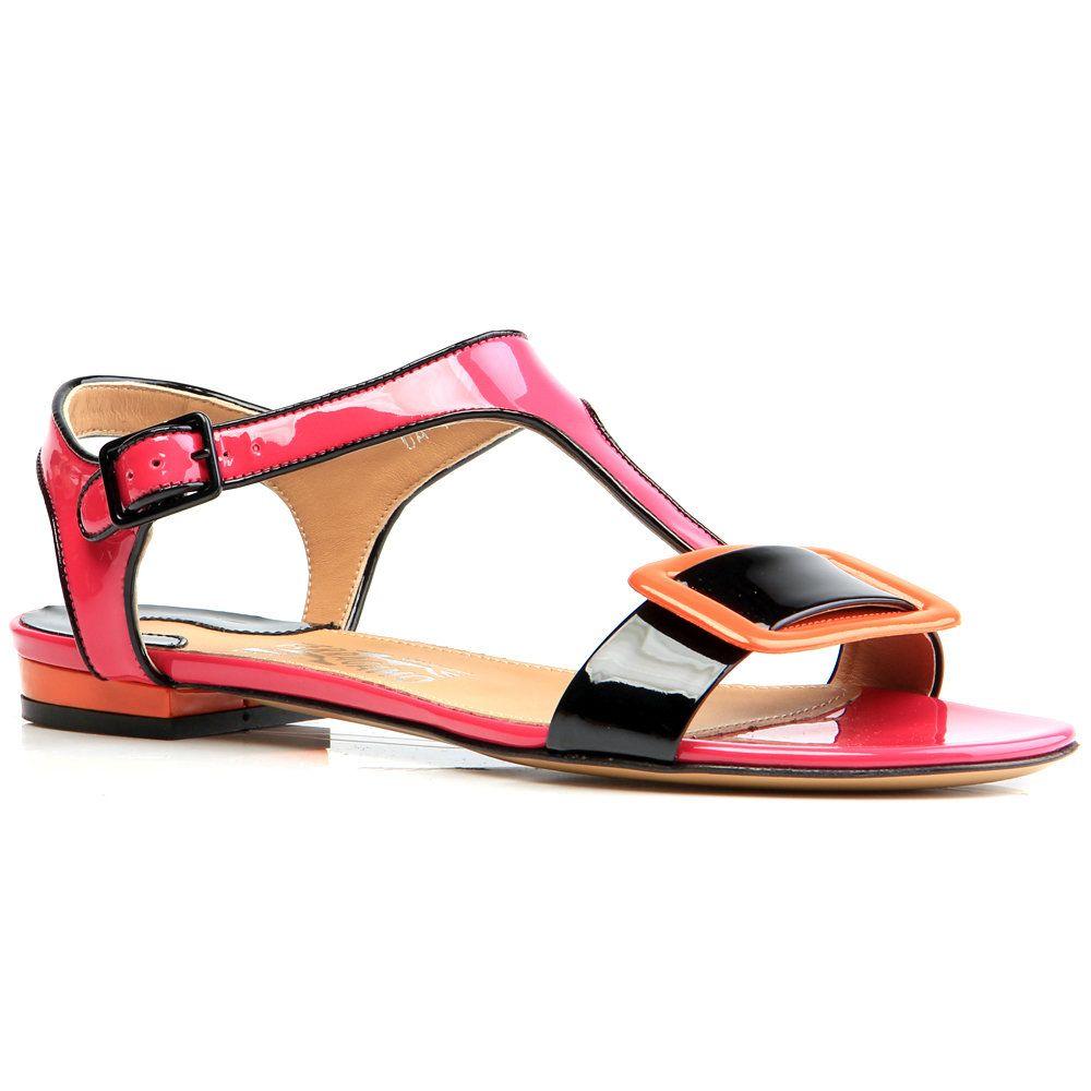 Salvatore Ferragamo Pristina Sandal Pink Patent