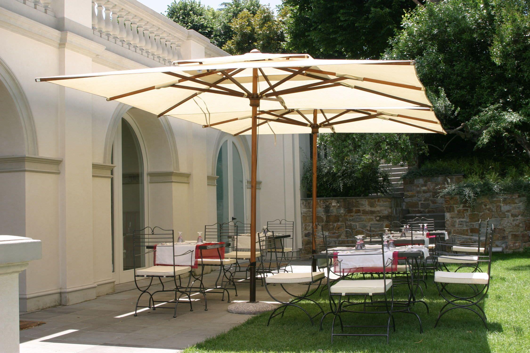 Offset Sun Umbrella Architecture Rectangular Patio Umbrella