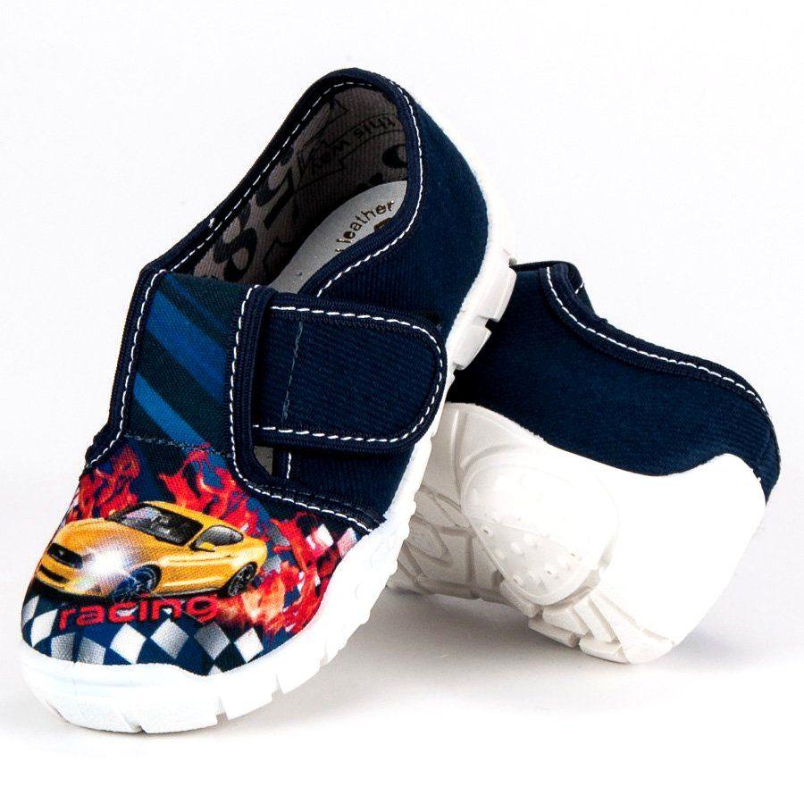 Kapcie Dzieciece Dla Dzieci Raweks Niebieskie Domowe Buty Racing Raweks Shoes Slip On Sneaker Sneakers
