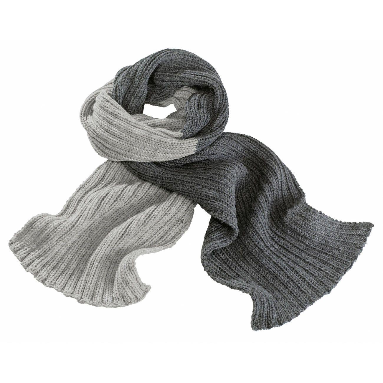 Modell 163/8, 2-farbiger Schal aus Schurwolle-Superwash von Junghans ...