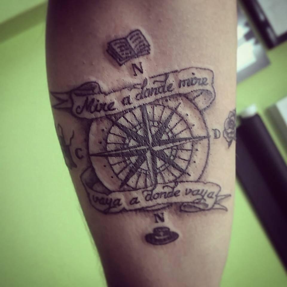 Rosa De Los Vientos Dedicada Tatuaje Tatto Rosadelosvientos