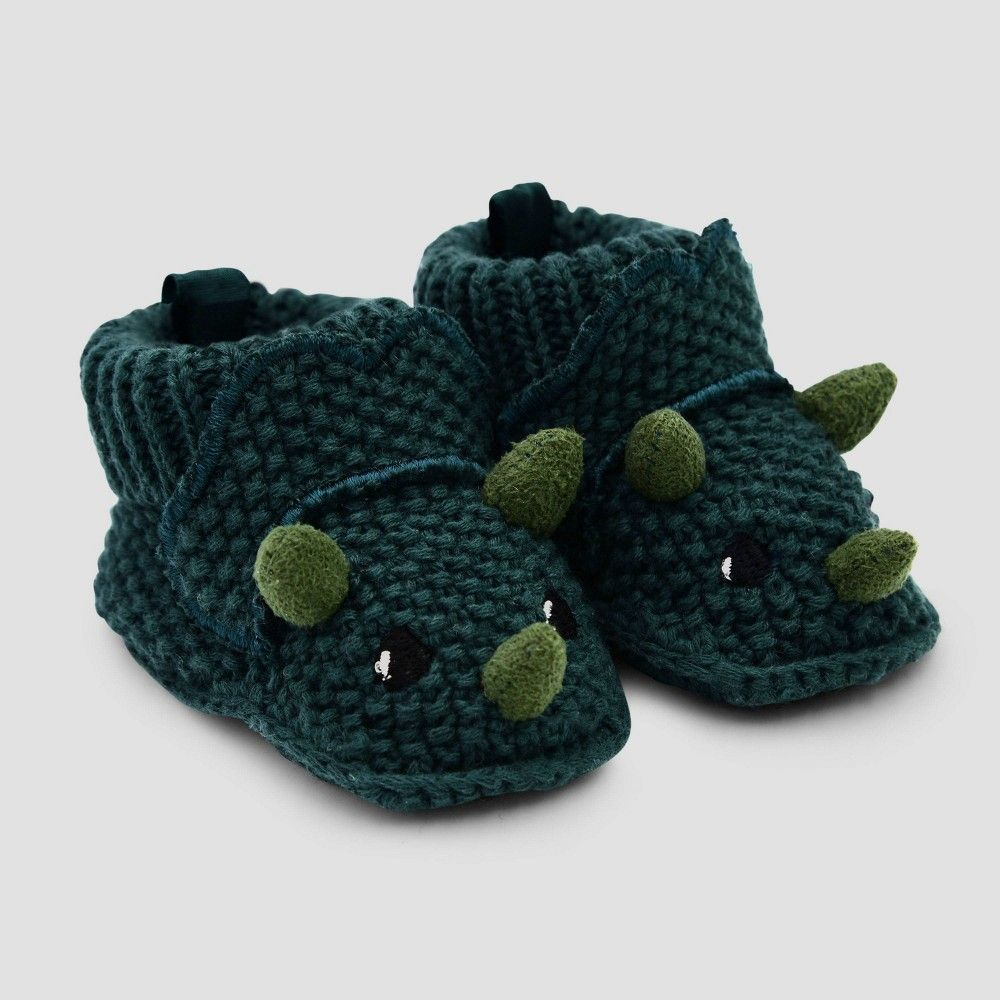 Photo of Baby Boys' Knitted Bino Booties – Just One You made by carter's Newborn, Boy's, Green