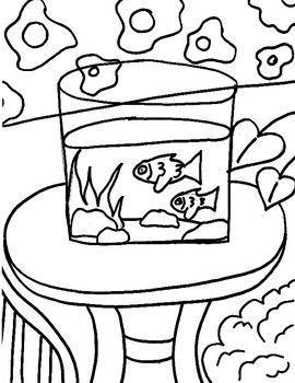 Henri Matisse Goldfish Coloring Page In 2020 Healthy Snacks For