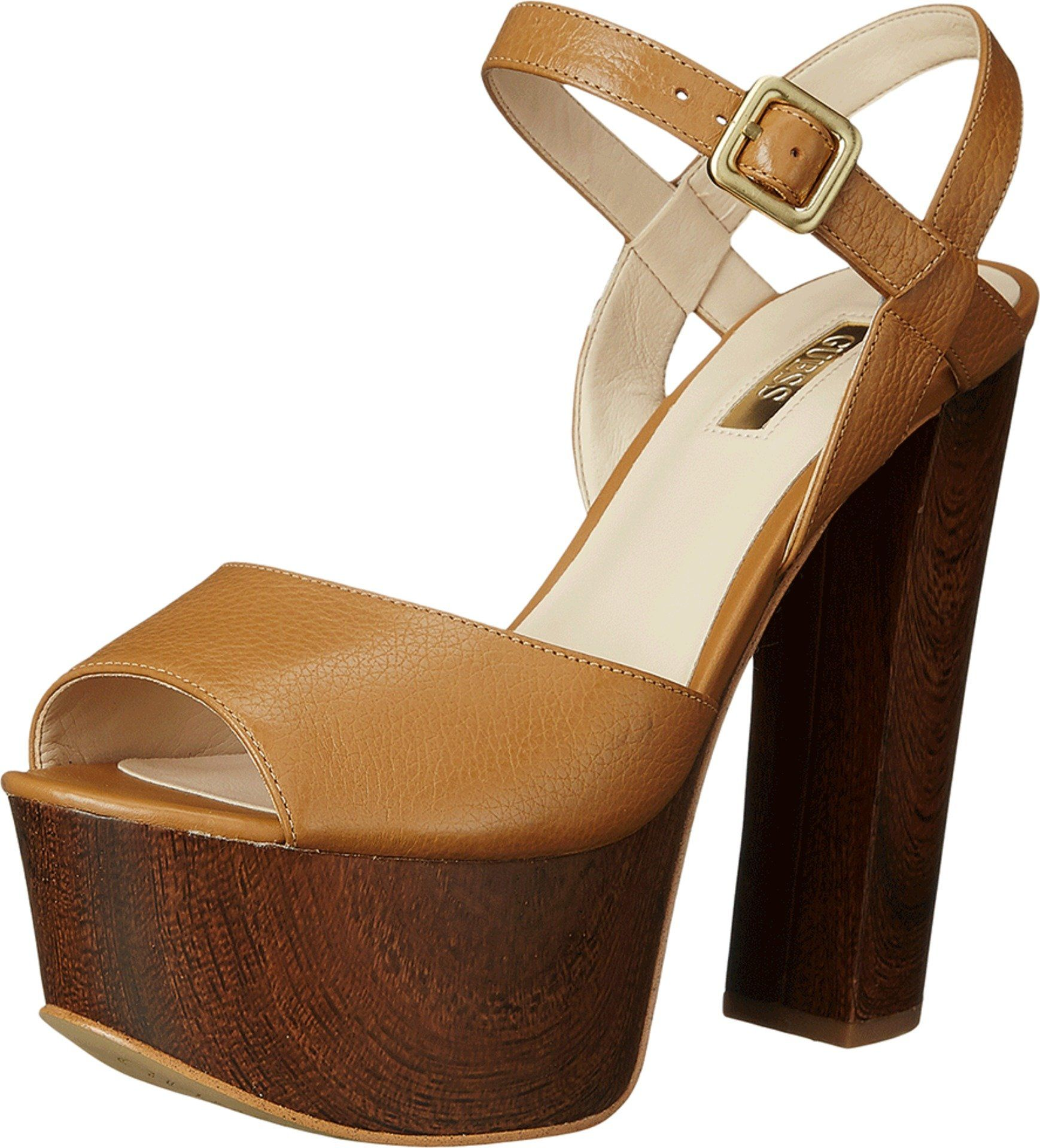 Womens Shoes GUESS Den Tan Leather
