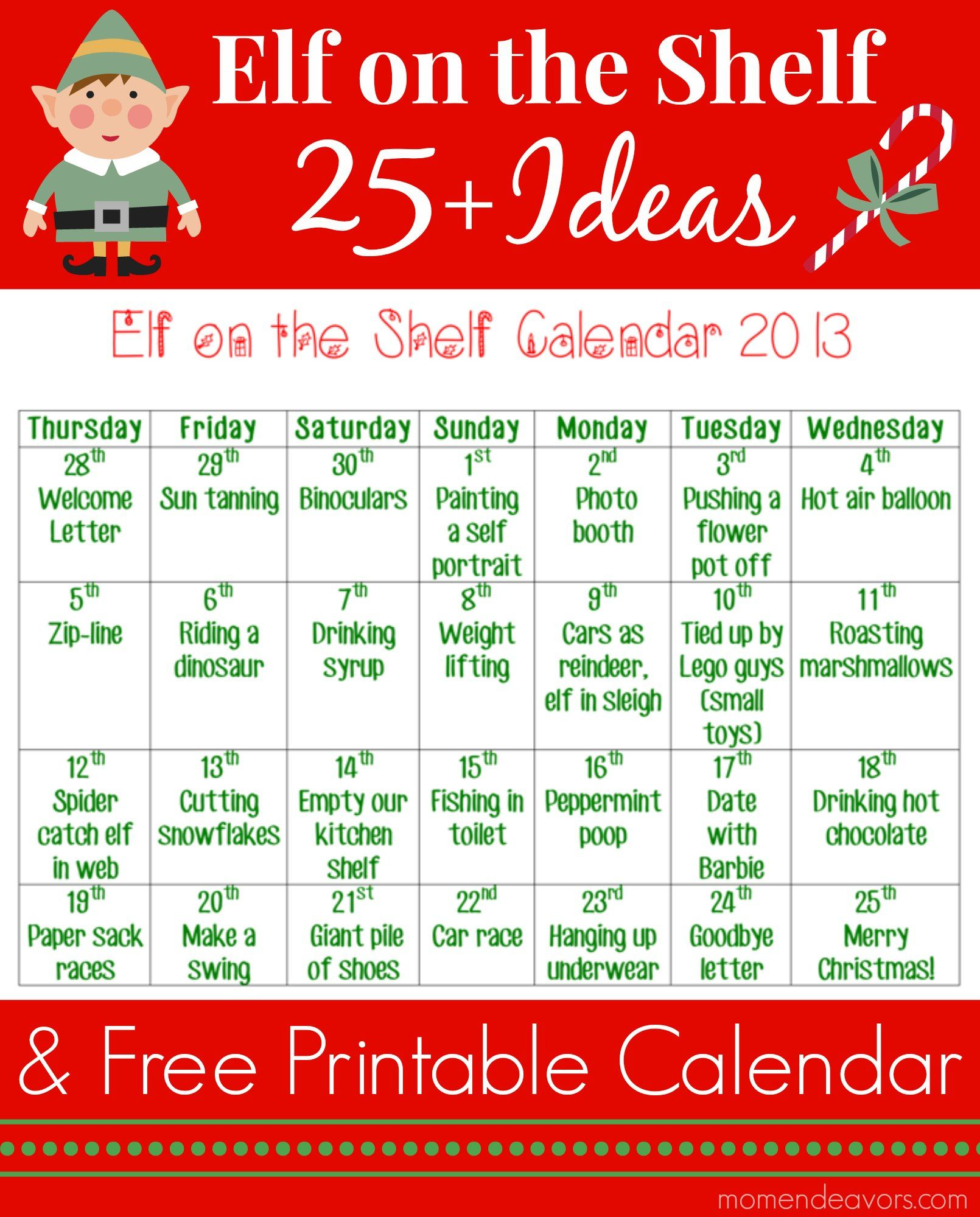 elf on the shelf letter 2 25 on the shelf ideas with free printable calendar 1197