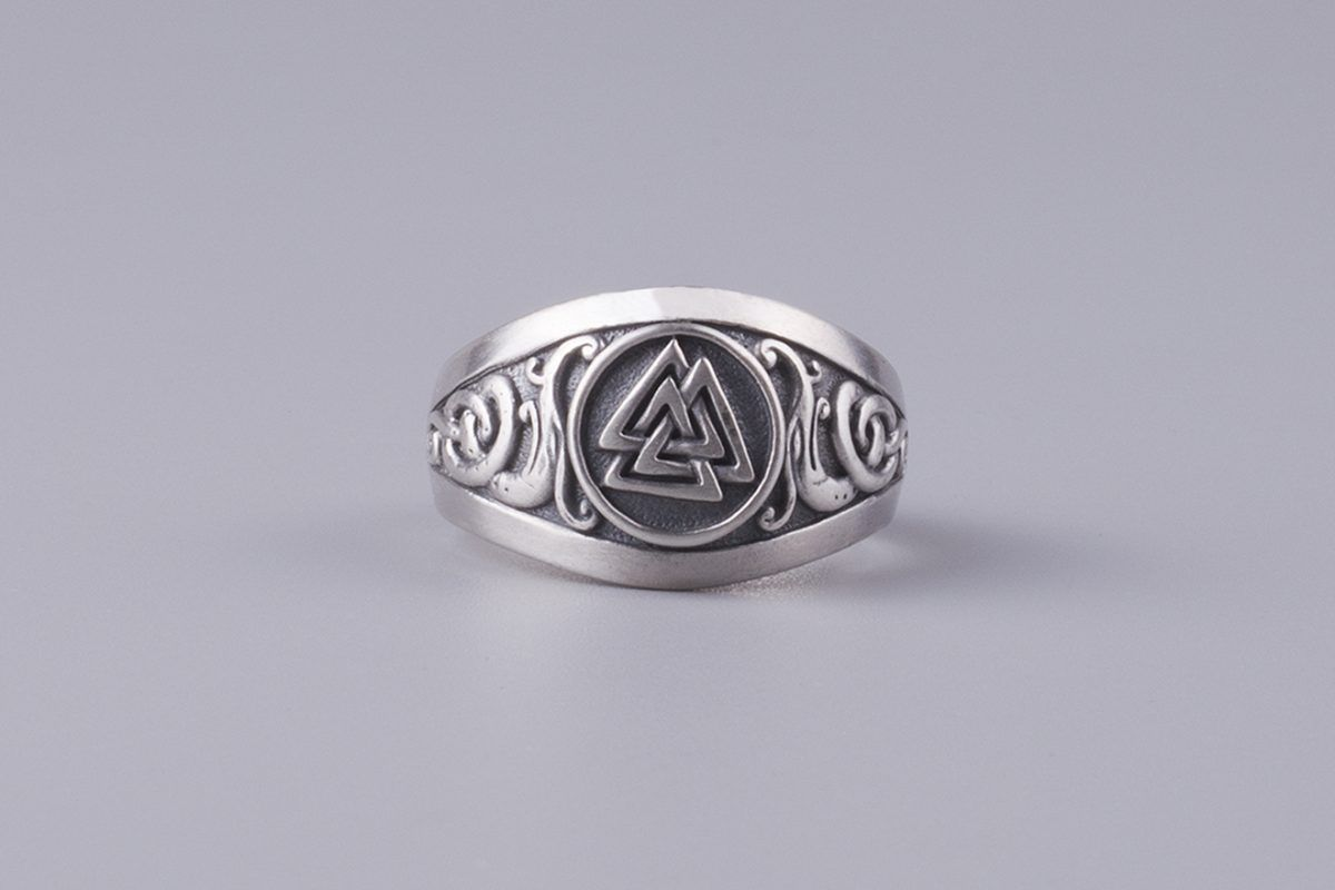 Viking Ring Valknut Jormungand 925 Sterling Silver