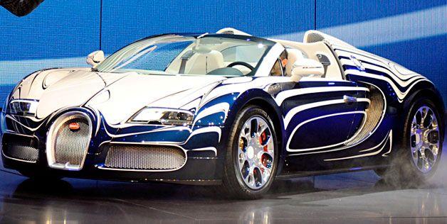 Custom-built L'Or Blanc edition Bugatti Veyron