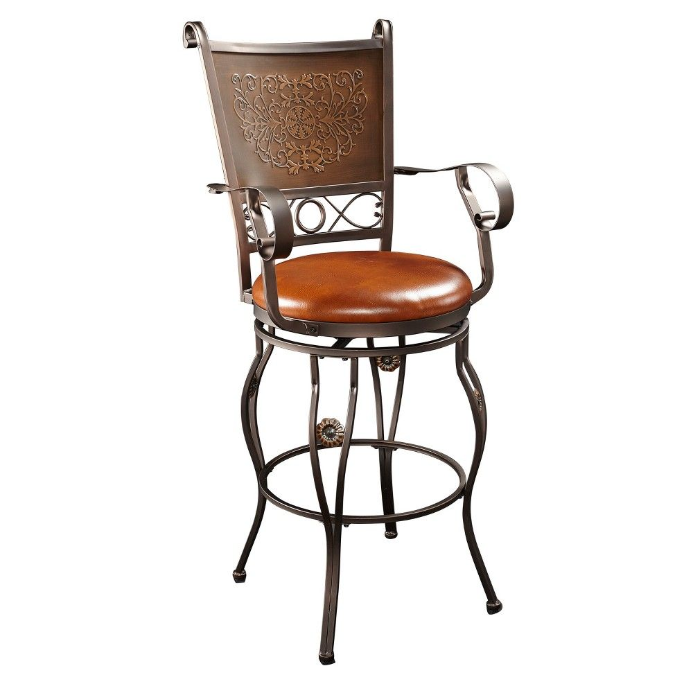 Swell 30 Eli Big Tall Copper Stamped Barstool Powell Company Bralicious Painted Fabric Chair Ideas Braliciousco