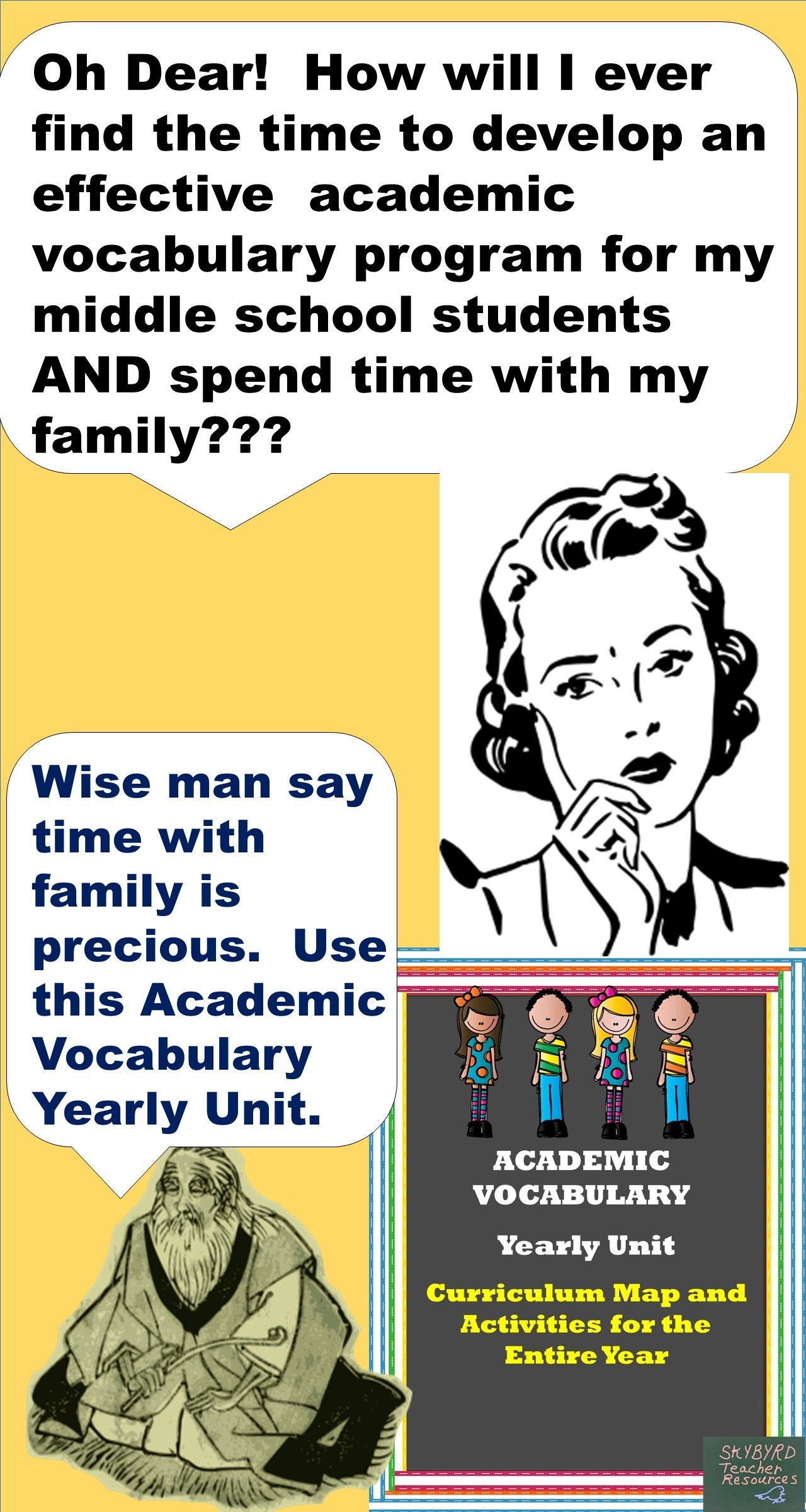 Word Of The Week Academic Vocabulary Full Year Curricula