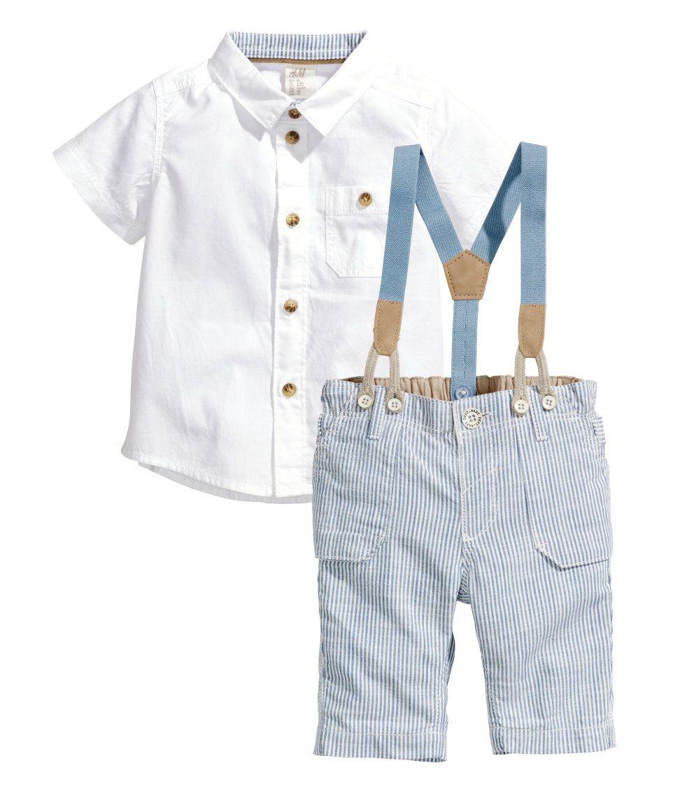 H&M Hemd und Shorts 3,3  Kleidung für jungen, Taufe outfit