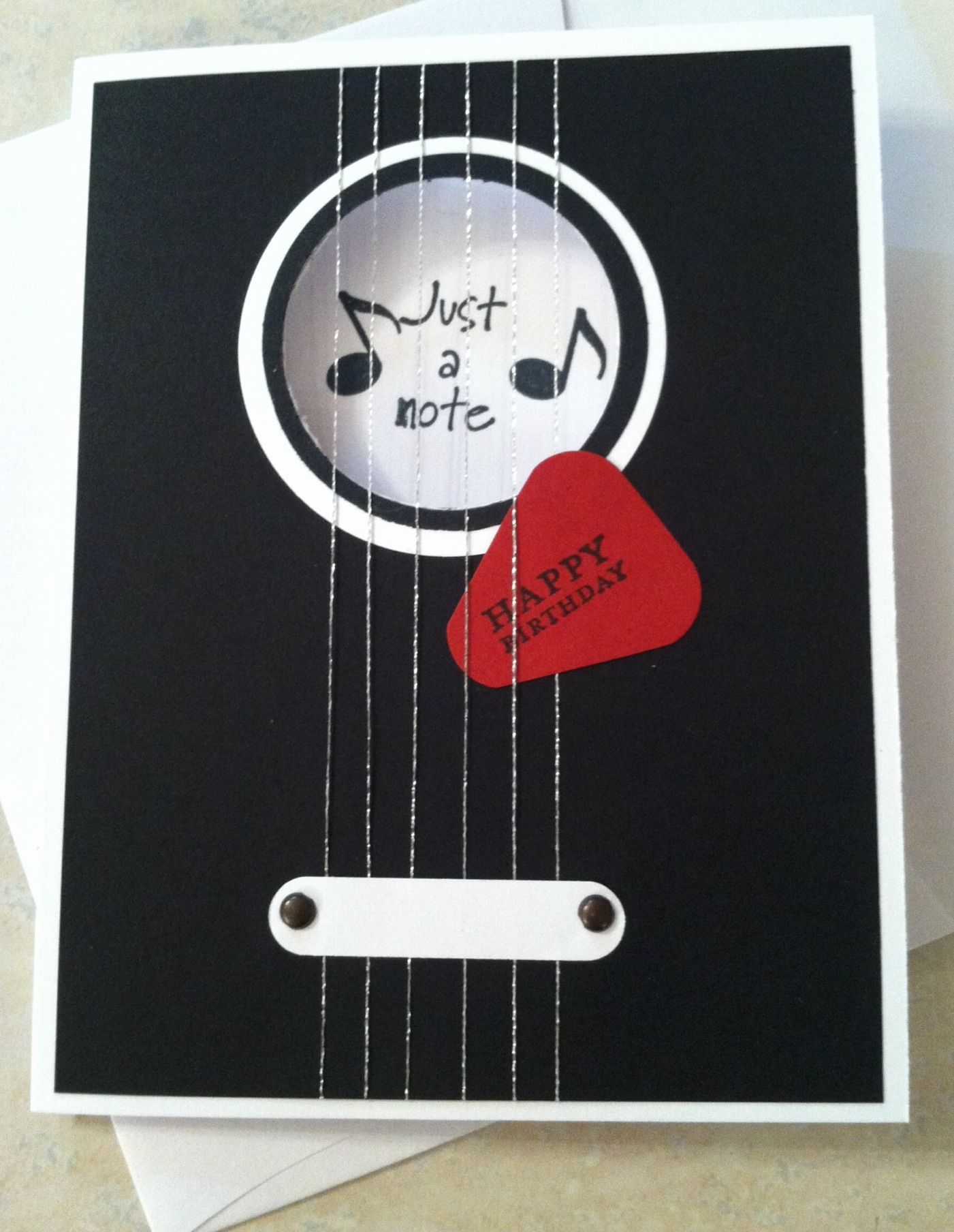 Guitar Birthday Card Template Lovely Stampin Up Guitar Card Fªte Homme Pinterest Birthday Cards Cards Musical Cards