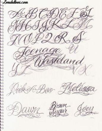 Letras Para Tatuajes Cursiva letras-para-tatuajes-cursiva-abecedario-6 (426×550) | tatuoinnit