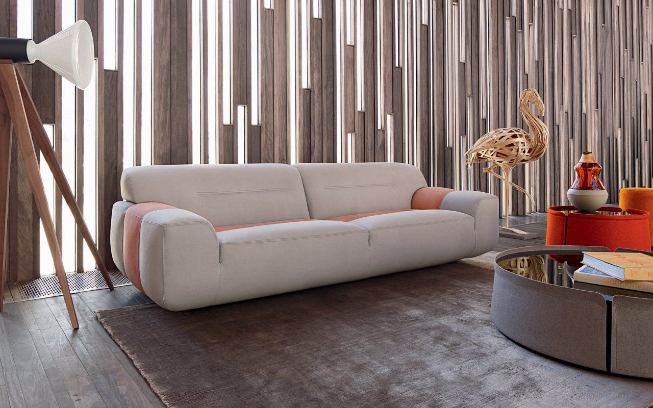 Intuition sofa sacha lakic design for the roche bobois for Canape roche bobois