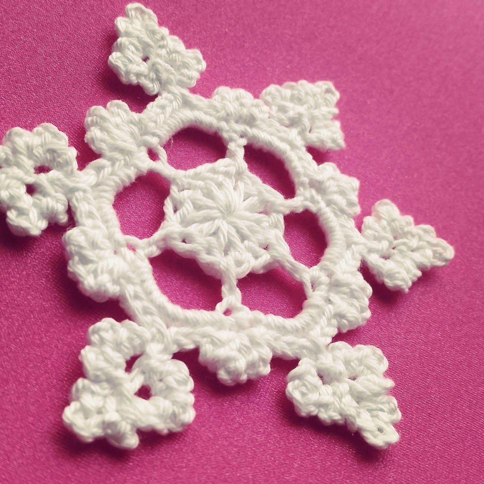 Cómo hacer un Copo de Nieve a Crochet | Ahuyama Crochet tutorial
