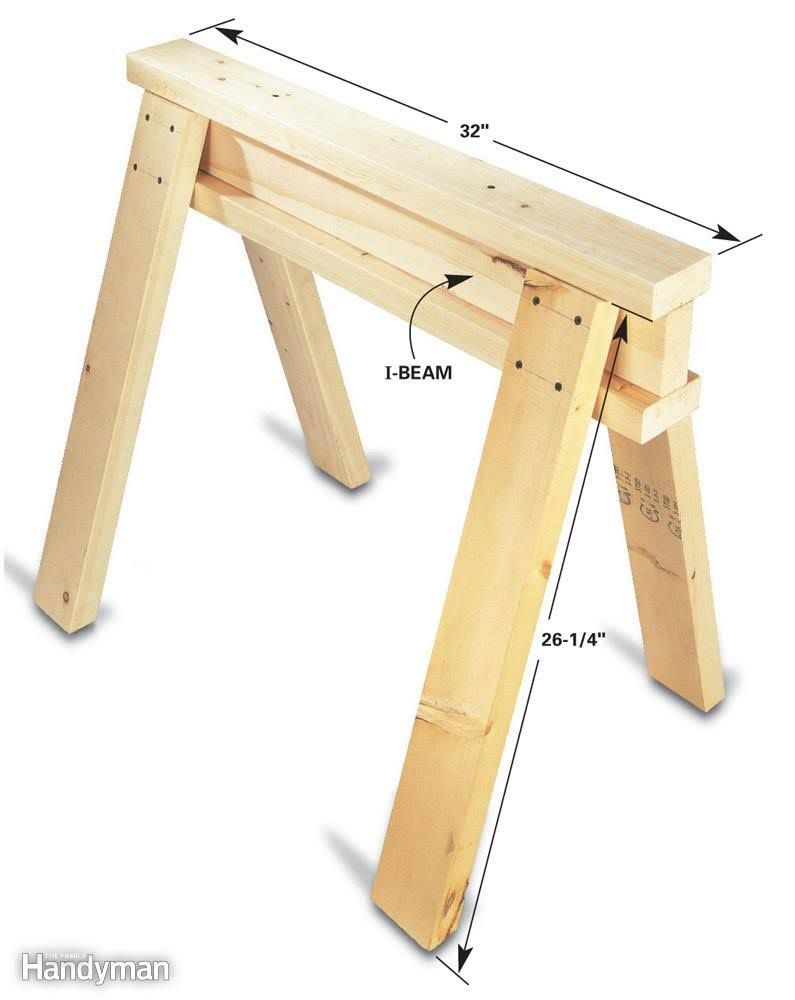 Savvy sawhorse table tips woodworkingtips woodworking tips
