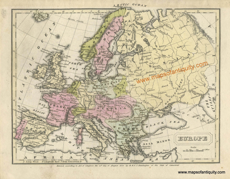Antique Map Europe 1830 Antique Maps Antique Map Vintage World Maps