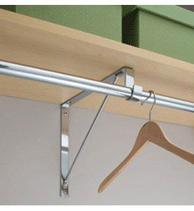 Exceptionnel Closet Rod And Shelf Support Bracket Image
