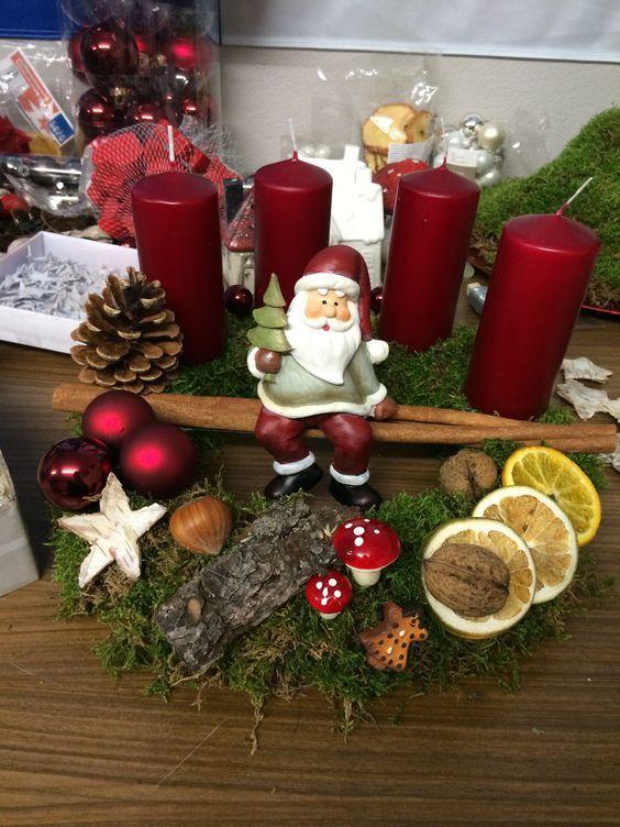C mo hacer centro de mesa navide o con velas navidad - Como hacer centros navidenos ...