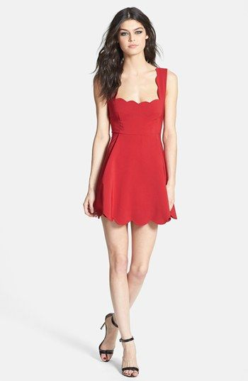 493aac97ddc2 June   Hudson Scallop Trim Skater Dress available at  Nordstrom ...