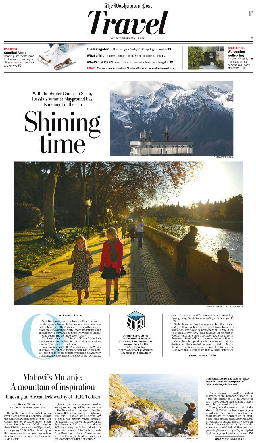 Washington Post print design on Behance Newspaper design