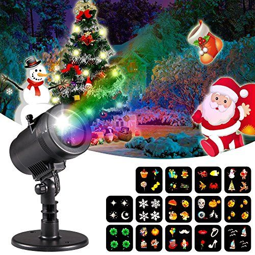 christmas decorations projector lights lychee outdoor moving rotating projector led spotlights waterproof projection led lights w14pcs switchable p - Moving Christmas Decorations