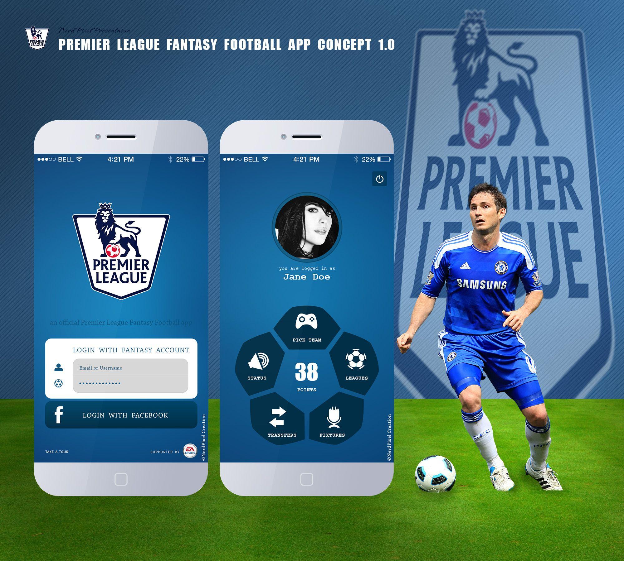 Fantasy Football Premier League App Concept 1.0 Fantasy
