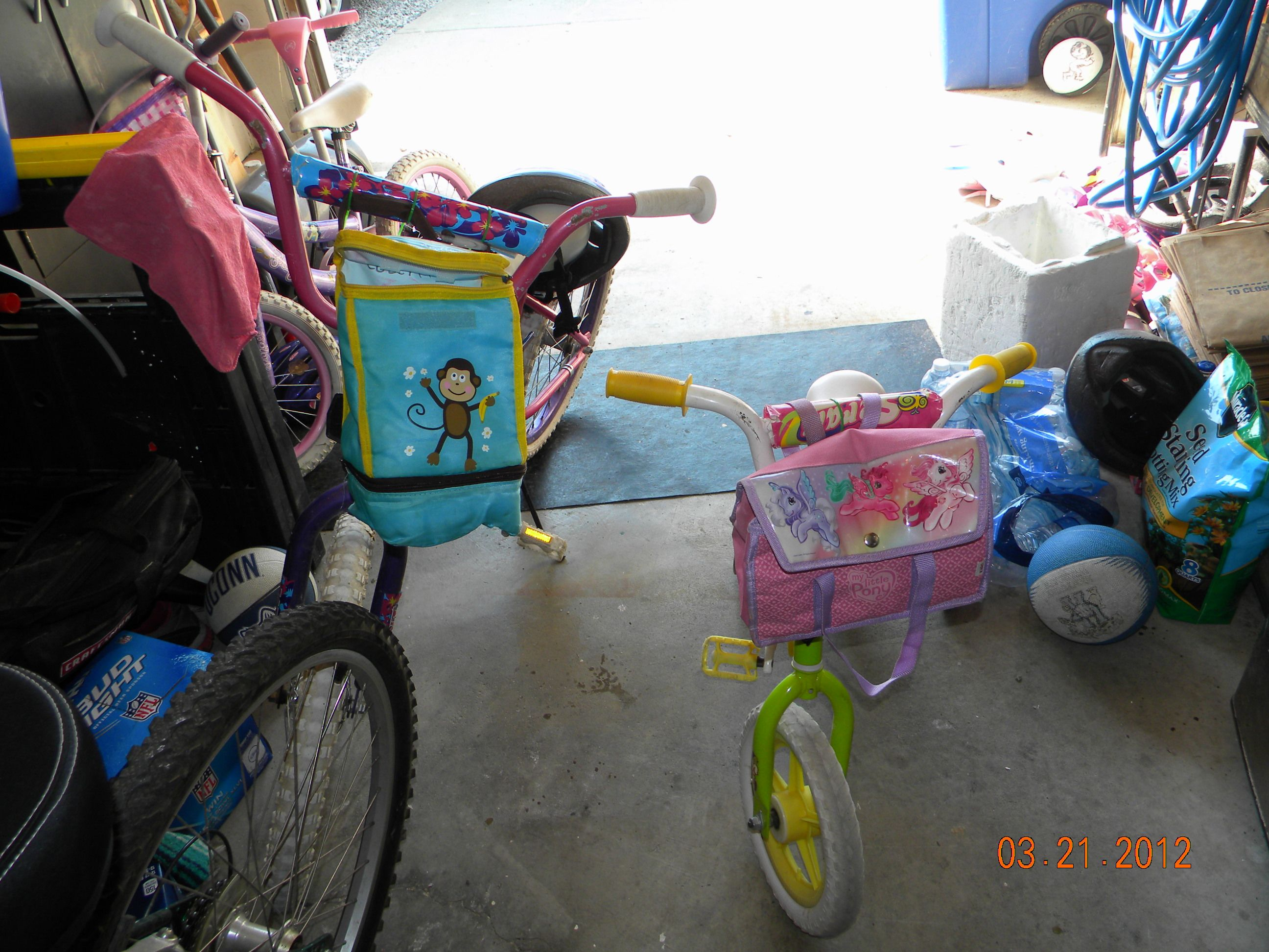 I Added Used Lunch Bags To The Kids Handlebars On Their