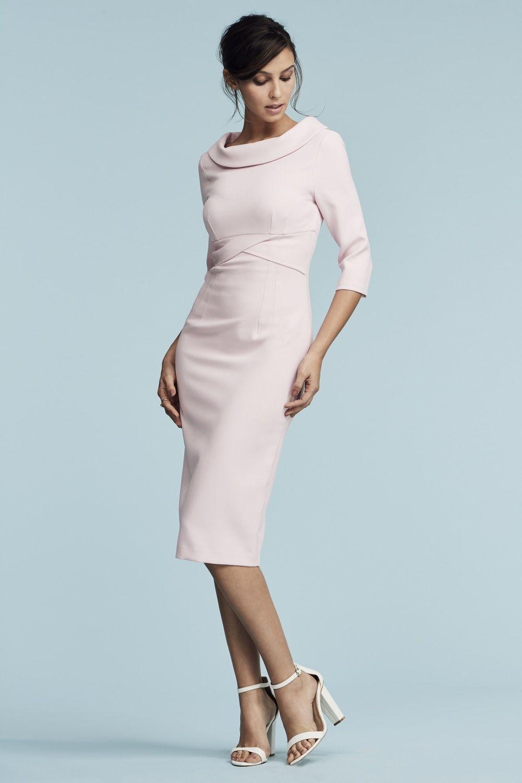 e31adeb944e The Pretty Dress Company Kennedy Roll Collar Pencil Dress