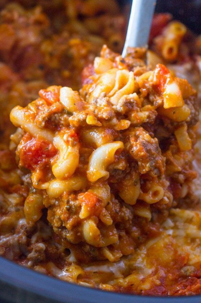 Slow Cooker Ground Beef And Cheese Pasta Slow Cooker Ground Beef Ground Beef Pasta Recipes Beef Pasta Recipes