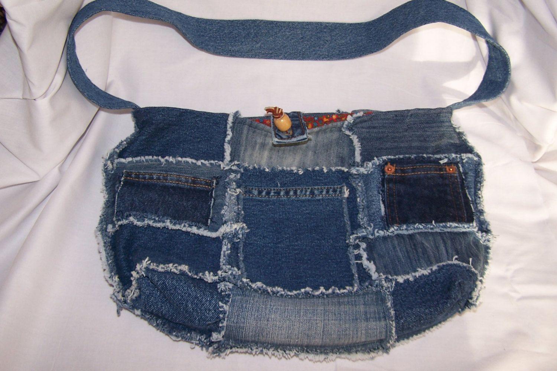 Hippie Patchwork Handbag Rag Purse por PlanetRefunk