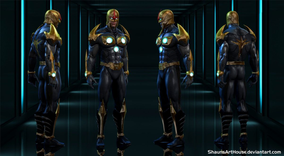 Nova Prime Richard Rider MH for XNALara / XPS by ShaunsArtHouse