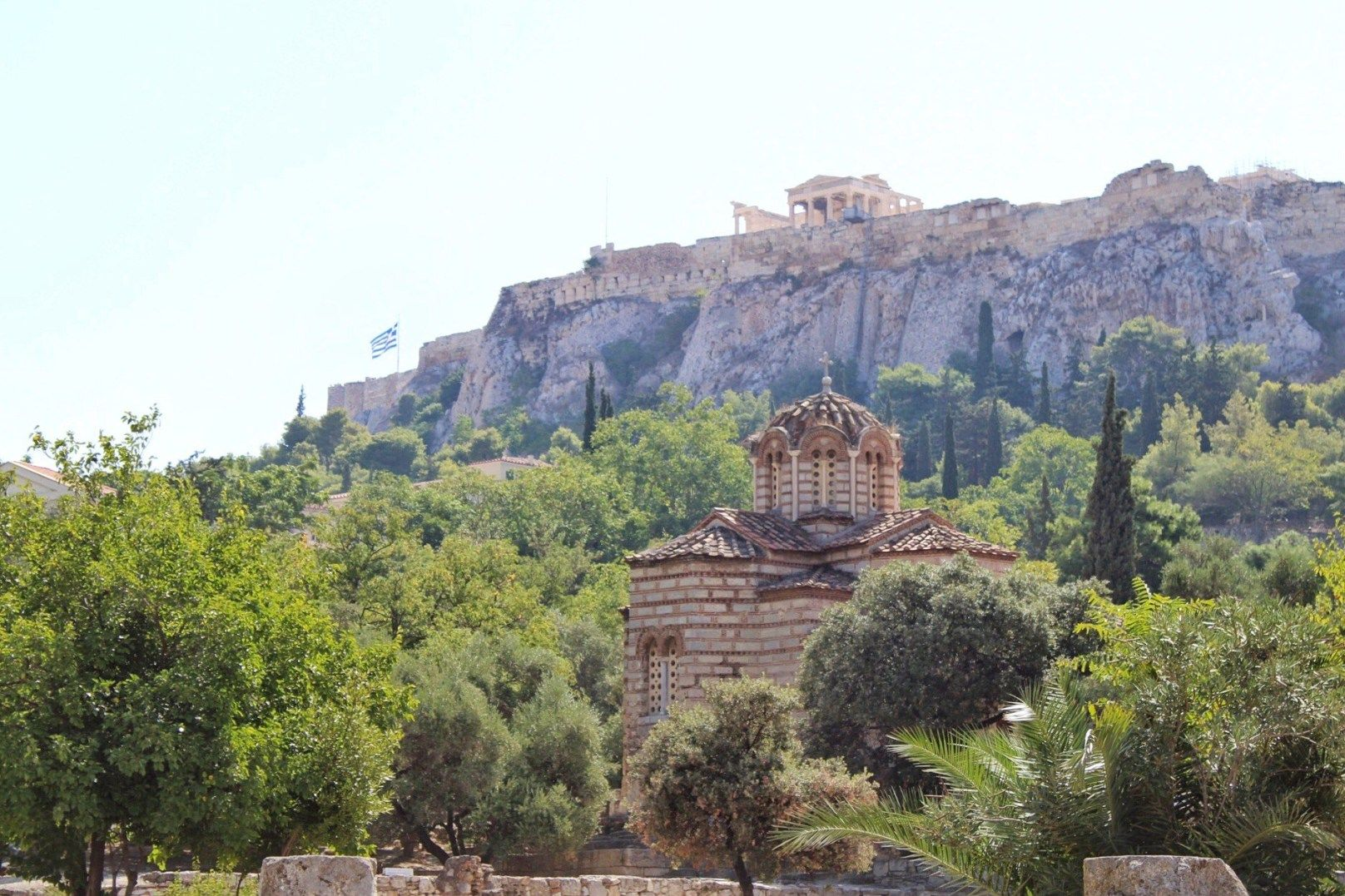 View Of Acropolis From Ancient Agora Athens Greece Greece