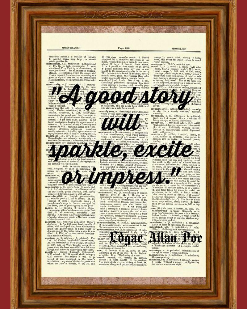 Details about Edgar Allan Poe Dictionary Wall Art Print