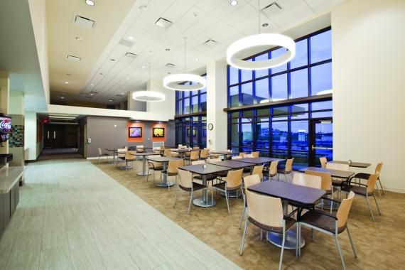 The Openness Of The Dining Area At Mercy Rehabilitation Hospital Springfield  In Springfield, Mo., Provides A Respite Space For Patients, Family, And  Staff.