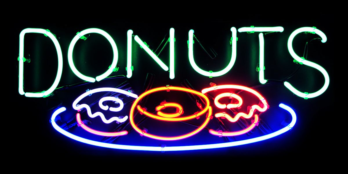 Light Up Neon Donuts Sign