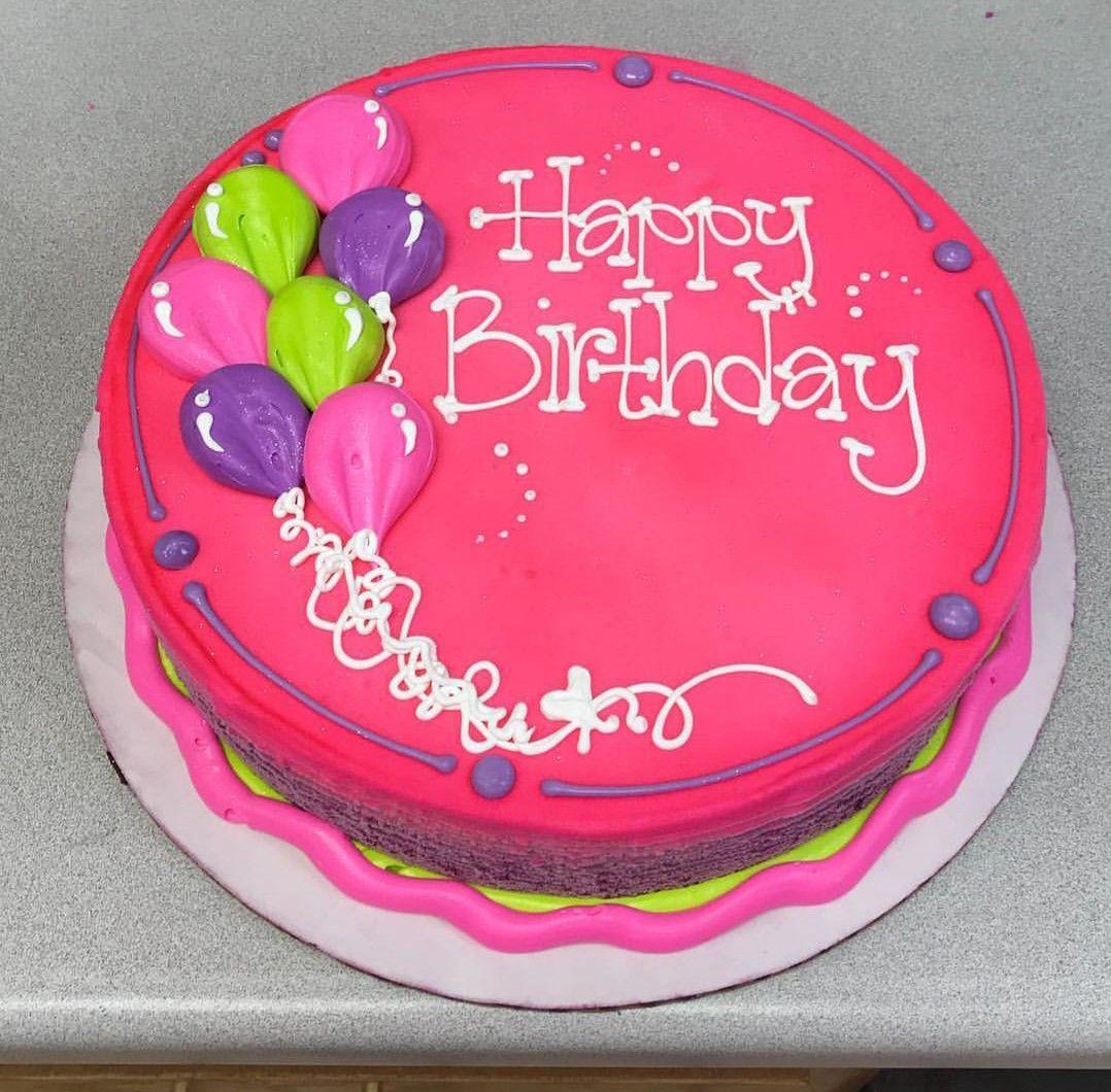 Superb Pretty Pink Birthday Cake Round Birthday Cakes Birthday Sheet Funny Birthday Cards Online Hendilapandamsfinfo