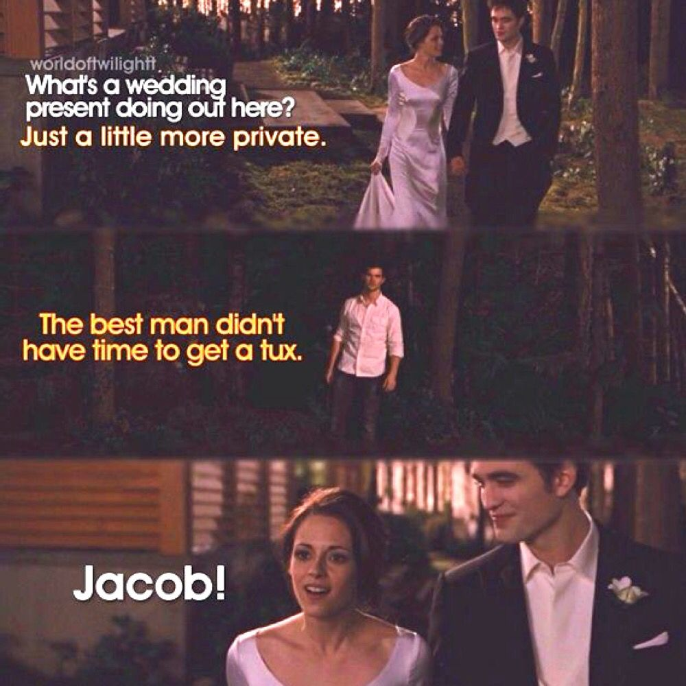 Twilight Wedding Quotes: Breaking Dawn Part 1 ~ Edward, Bella And Jacob
