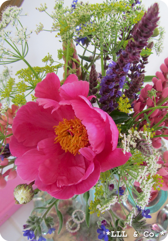 Mixed flowers (from the garden and wild ones)...