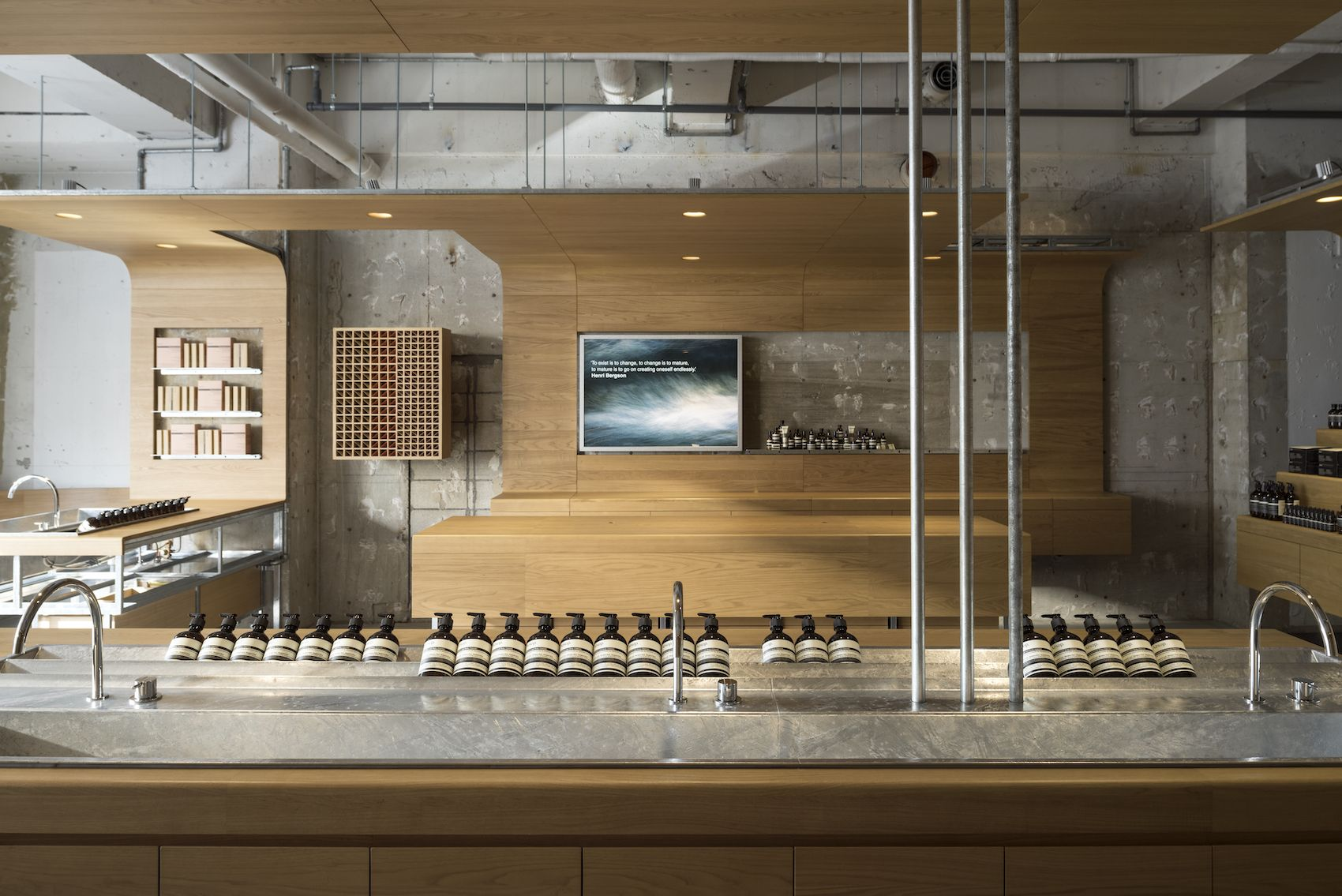 Aesop Shibuya With Images Aesop Store Minimalist Interior Commercial Design