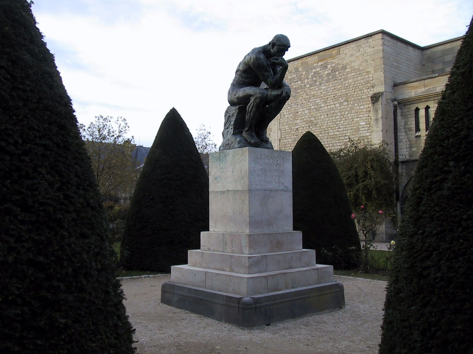 """The Thinker ~ Musee Rodin in Paris ~  """"What is seen cannot be unseen""""  Auguste Rudin"""