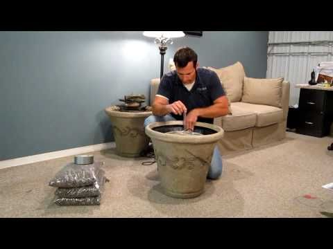 Installing a standard aqua rock fountain kit in a decorative pot installing a standard aqua rock fountain kit in a decorative pot youtube not indoor water workwithnaturefo
