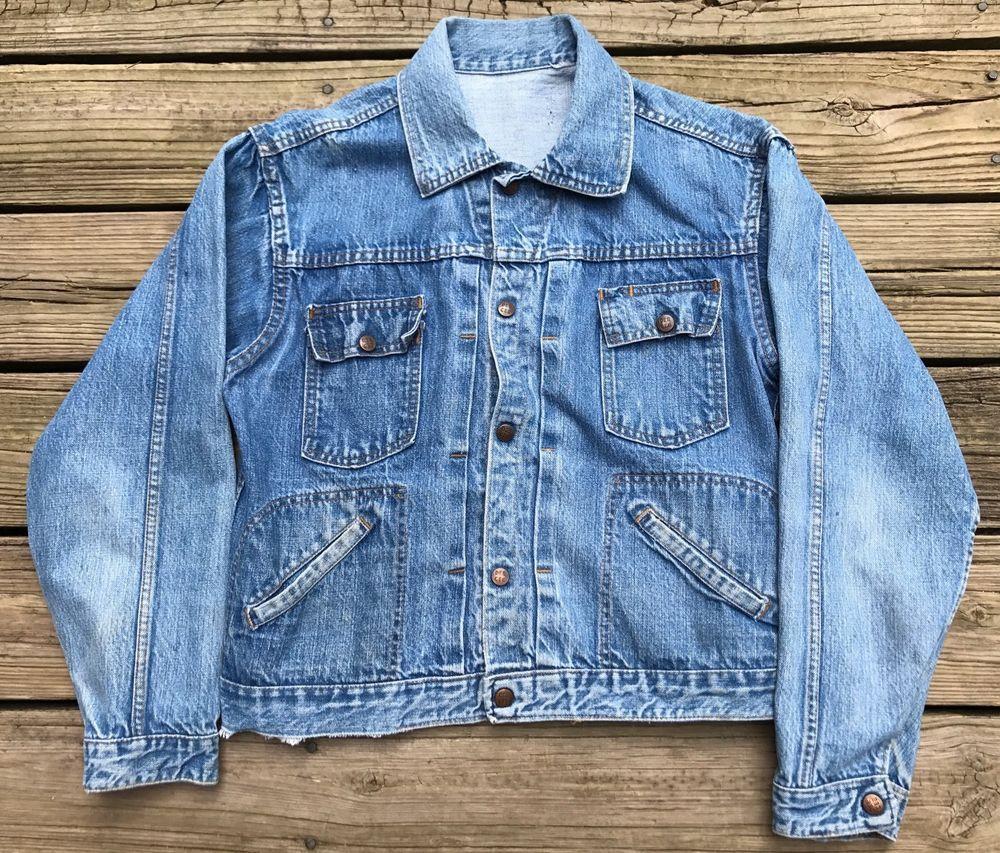 Vintage Dee Cee Denim 1970s Blue Rockabilly Workwear Jean Jacket Men S S M Deecee Everyday [ 853 x 1000 Pixel ]