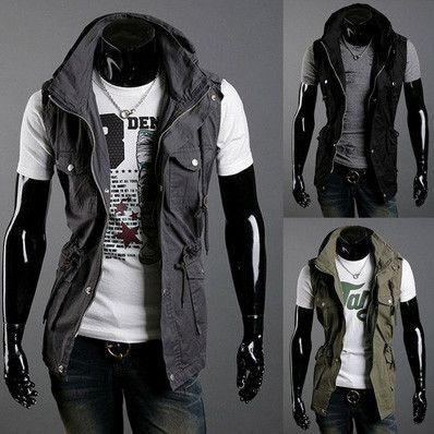 Military Style Vest Jacket