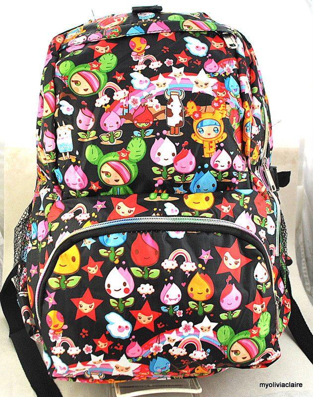 JAPANESE ANIMAE PRINT backpack for a girl