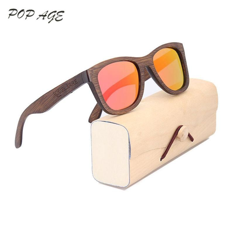 Brown Sunglasses Women Brand Designer Retro Bamboo Glasses Frame ...