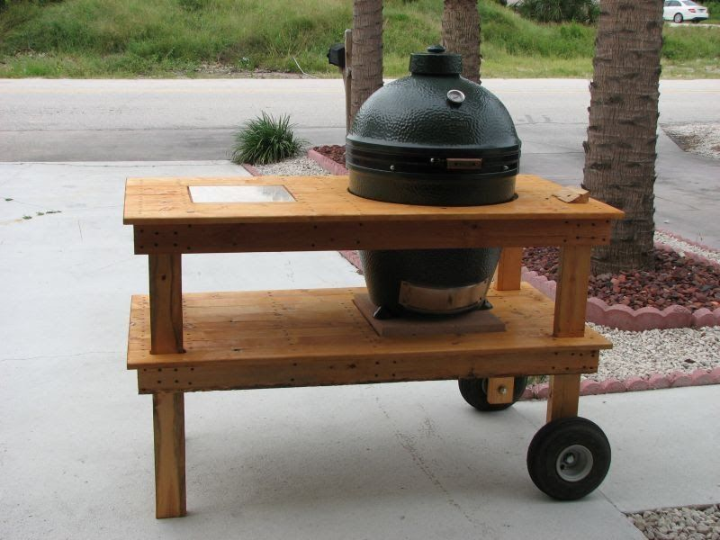 or stick wheels on it more at yellawood com big green egg table plans big green egg table on outdoor kitchen on wheels id=20354