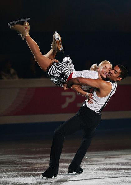 Aliona Savchenko and Robin Szolkowy of Germany performs their routine in the Gala during day four of the ISU Grand Prix of Figure Skating Fi...