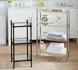 Benchwright Ladder Floor Storage Spa Ideas Pinterest Pottery - Pottery barn bathroom storage for bathroom decor ideas