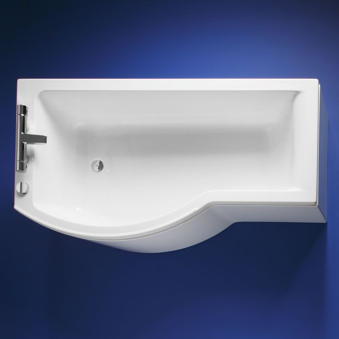 Ideal Standard Concept Shower Bath With IWS 1700mm X 700mm Right Hand